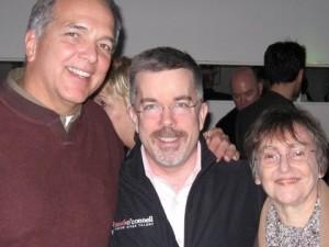 <em>Voice talents Dave Courvoisier, Peter K. O'Connell and Elaine Singer</em>