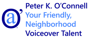 Peter K. O'Connell Your Friendly Neighborhood Voiceover Talent logo Blue