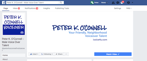 Peter K. O'Connell Male Voiceover Talent facebook
