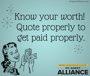 VO AGENT ALLIANCE Get paid properly