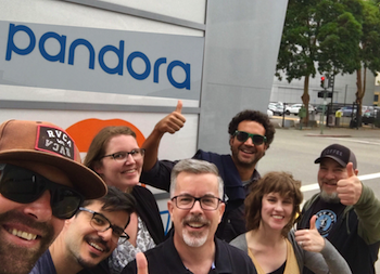 Pandora team with voice talent Peter K. O'Connell